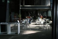 im Cafe auf Zollverein