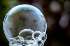 Kristallbeginn in der Blasenwolke
